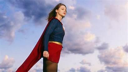 Supergirl Superhero Kara Flying Cbs Seconda Stagione