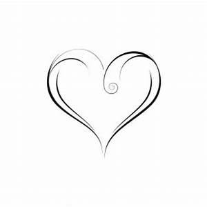 Hearts clipart elegant heart - Pencil and in color hearts ...
