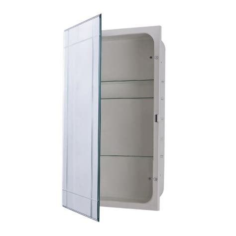 home depot medicine cabinet with mirror bellaterra home sumner 16 in x 26 in frameless recessed
