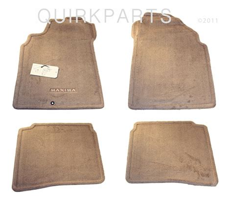2003 Nissan Maxima Floor Mats - 2001 2003 nissan maxima floor mats carpeted blond set of 4