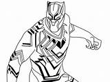 Panther Coloring Pages Marvel Printable Drawing Superhero Colouring Flash Books sketch template