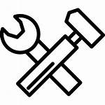 Hammer Outline Tools Hamer Wrench Symbol Llave