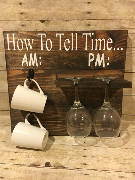 How To Tell Time How To Tell time Coffee/Wine Glass Holder