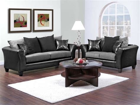 black sofa and loveseat set casual contemporary black gray sofa seat living