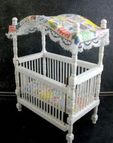 Doll Nursery Furniture by Dolls House Miniature 1 12 Nursery Baby Furniture