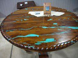 mesquite l with turquoise inlay incrustaciones de turquesa b mesquite muebles mesas de