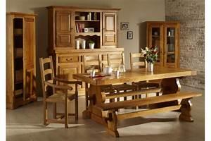 Table Chene Massif Rustique : table monastere ~ Teatrodelosmanantiales.com Idées de Décoration