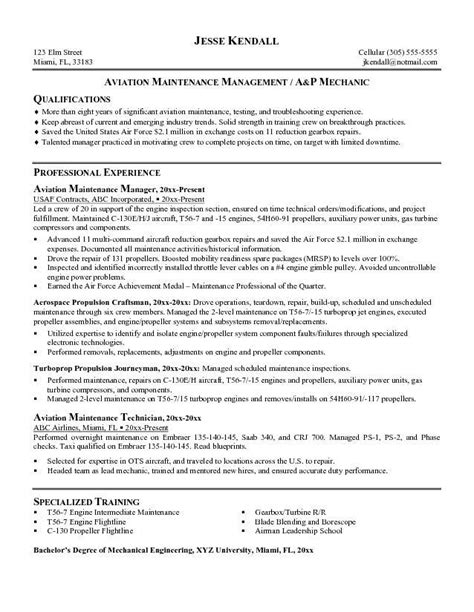 resume 11 aircraft mechanic cover letter and