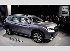 Ascent concept promises Subaru's return to 3row crossover