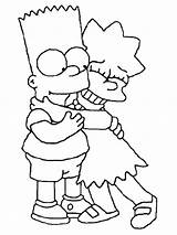 Simpsons Coloring Pages Simpson Printable Bart Fun Lisa sketch template