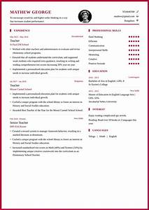 Teacher Resume Format And Resume Example For School