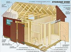 12X16 Storage Shed Plans Garden Storage Shed Plans