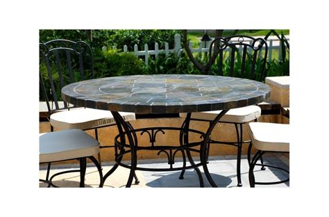 slate outdoor patio dining table stone oceane