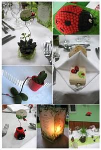stunning idee deco bapteme jardin gallery design trends With salle de bain design avec décoration coccinelle bapteme