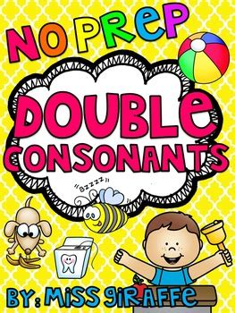 Double Consonants Ll Ss  By Miss Giraffe  Teachers Pay Teachers