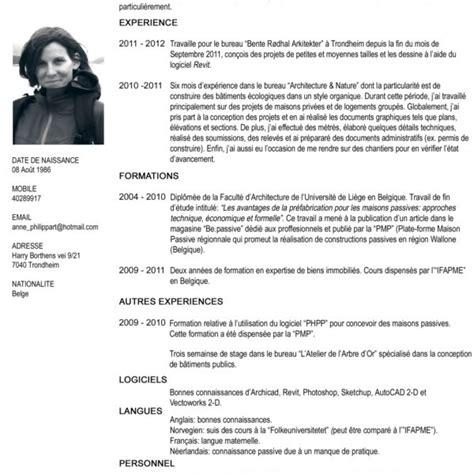 Curriculum Vitae Francais by Curriculum Vitae Francais Modelo De Curriculum Vitae