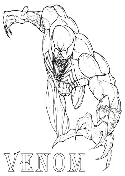 venom coloring pages coloring pages    print