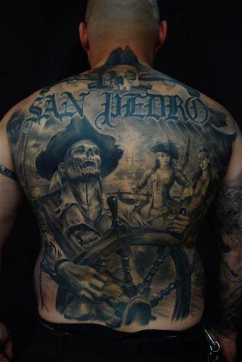 fantasy  skeleton pirate tattoo  carlos torres