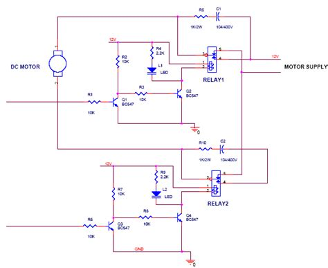 the circuit diagram for dc motor for forward and direction scientific diagram