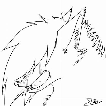 Wolf Crying Lineart Deviantart Favourites