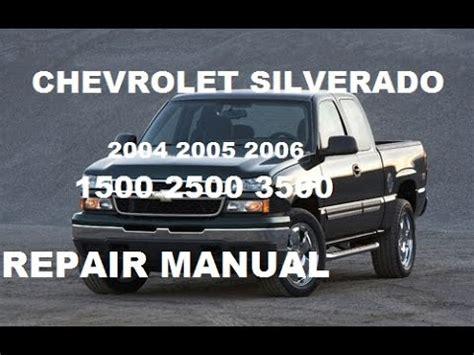 car engine repair manual 2004 chevrolet silverado 2500 navigation system chevrolet silverado 2004 2005 2006 repair manual youtube