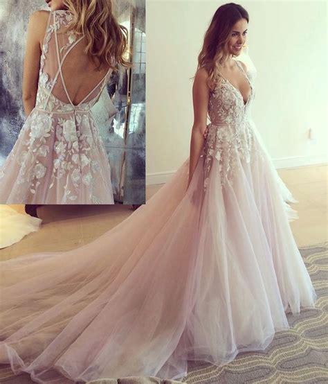 light pink wedding dress ideas  pinterest