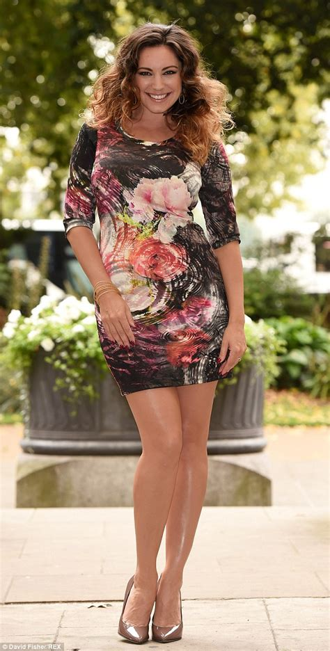 Kelly Brook Smoulders In Floral Dress For Launch Of Simply
