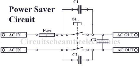 simple power saver electronic circuit