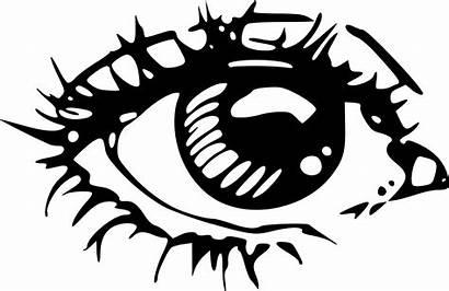 Eye Eyes Clipart Crying Drawing Human Clip