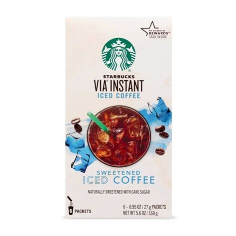 Not all instant coffee tastes great. Starbucks VIA Instant Sweetened Iced Coffee - 6ct : Target