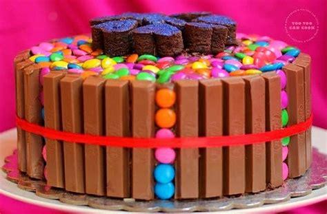 kit kat cake kit kat and gems cake birthday cake for