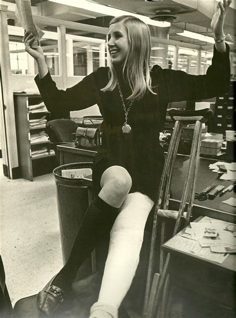 Lorraine In 1967 With Leg Cast