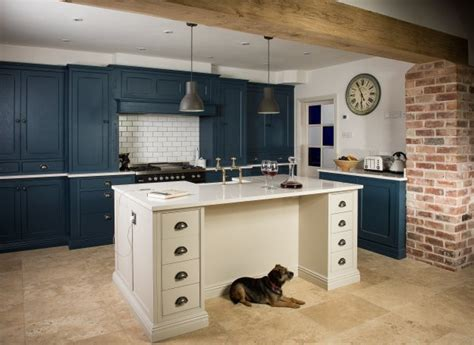 farrow and green blue kitchen painted kitchens charnwood kitchens 9664