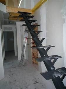 Fabriquer Son Escalier : escalier avec ipn resine de protection pour peinture ~ Premium-room.com Idées de Décoration