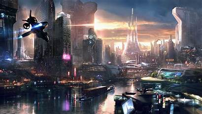 Gaming Concept Remember Games Futuristic Cities Cityscape