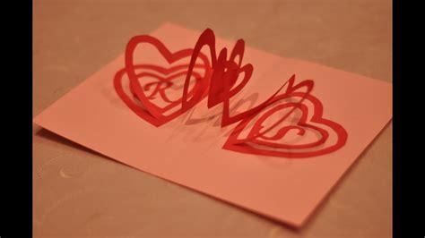 valentines day pop  card spiral heart