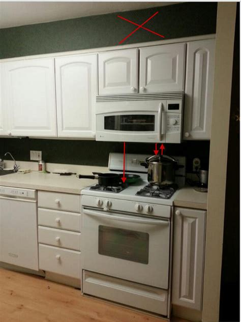 do over the range microwaves have fans proper distance between microwave and range top