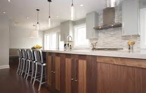 Glass pendant lights over kitchen island : Modern kitchen island lighting in canada