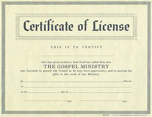 License for minister certificate license christian supply for Free minister license certificate