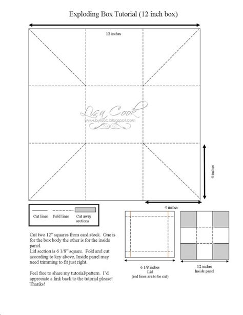 exploding box template from crayons to copics card ideas free designs exploding box tutorial and pattern 12