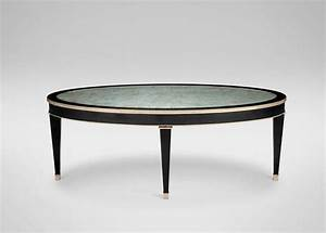 Black frame round glass coffee table for Glass coffee table black frame