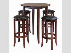 Amazoncom Winsome Fiona 5Piece Round High Pub Table Set