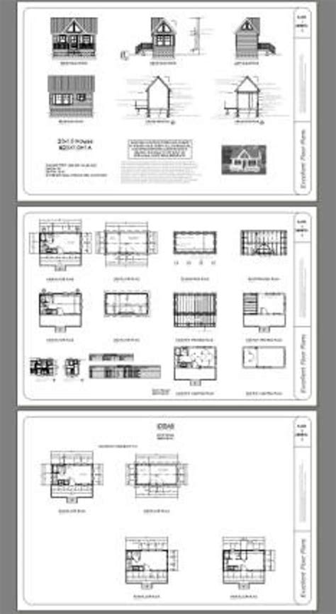 tiny house  bedroom  bath  sq ft  floor plan instant  model