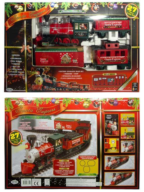 santa christmas train set santa express deluxe set 27 animation toys the warehouse