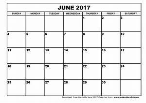 June 2017 Calendar & July 2017 Calendar