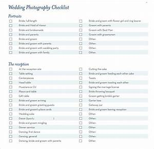 7 wedding planning checklist samples sample templates With wedding photography checklist pdf
