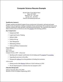 computer science resume objective computer science resume bidproposalform