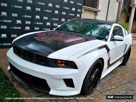 galpin  dub build ford mustang  tony hawk stand