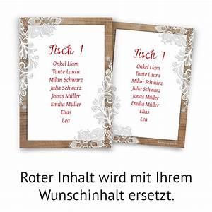 Tisch Selbst Gestalten : hochzeit tisch sitzplan rustikal mit wei er spitze ~ Orissabook.com Haus und Dekorationen