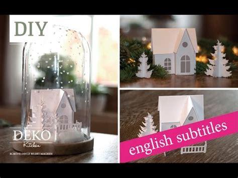 Edle Fensterdeko Weihnachten by Weihnachtsdeko Basteln Winterlandschaft Tutorial